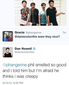phils-smile on tumblr : Dan your trash side is showing