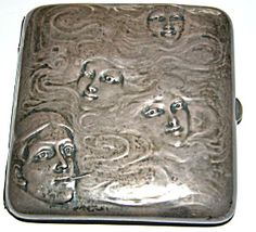 RARE! ANTIQUE ART NOUVEAU STERLING BLACKINTON COMPACT (ANTIQUE & VINTAGE COMPACTS) at Family Jewels (Lisa Cohen)