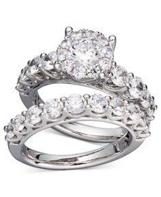 Prestige Unity Diamond Bridal Ring Set in 14k White Gold (2 ct. t.w.)