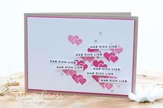 Valentinskarte Hab Dich lieb