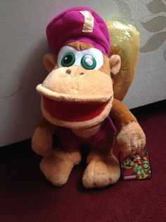 Donkey Kong's Dixie Plush 2002 Play By Play Official Nintendo VERY RARE with tag