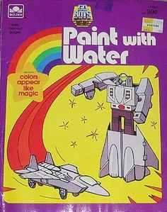 """Paint with water"" books. {Loved these as a kid. Not much creativity there, but you could drag it places with you and not make a mess.}"