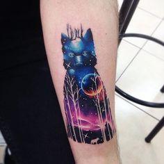 Top 10 Des tatouages galaxie de Adrian Bascur
