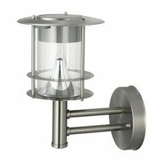 BTR 10.2-in Brushed Stainless Steel Solar Outdoor Wall Light