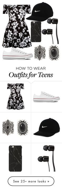 """""""Untitled #679"""" by mriss-abbrie on Polyvore featuring New Look, Converse, NIKE and Vans"""