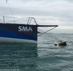 """#VOILE #Imoca Le 60 pieds SMA récupéré le 5 janvier et mis à l'abri dans le sud-ouest de l'Irlande Paul Meilhat : """"Je suis super content de ce dénouement. Ces 20 derniers jours n'ont pas été faciles"""" http://seasailsurf.com/seasailsurf/actu/9428-Le-60-pieds-SMA-recupere-le-5-janvier-et-mis-a-l"""