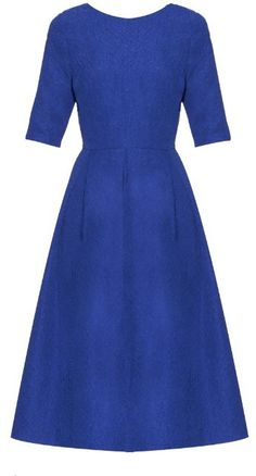 Kate Middleton wearing Saloni Martine Crinkle-Effect Dress Royal Dresses, Blue Dresses, Dresses For Work, Star Fashion, Look Fashion, Luxury Fashion, Herzogin Von Cambridge, Marine Uniform, Kate Middleton Style