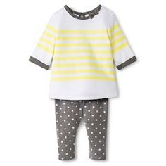 Newborn Girls' Top and Bottom Sets - Radiant Gray