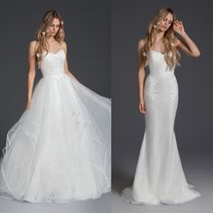 Two-in-One Dresses: Mixing up Your Wedding Day Style from Ceremony to Reception! Detachable Wedding Dress, 2 Piece Wedding Dress, Detachable Skirt Wedding Dress, Bridal Gowns, Wedding Gowns, Wedding Day, Dream Wedding, Convertible Wedding Dresses, Convertible Dress
