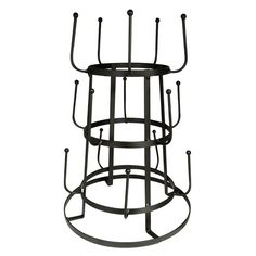 French inspired bottle drying rack / mug rack - great for a coffee station