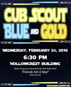 Star Wars Blue & Gold Banquet - Cub Scout Pack Meeting Invitation