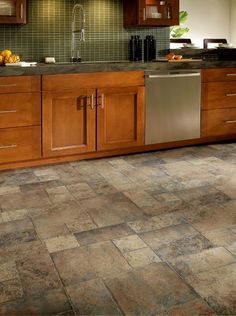 I Like These Tile Colors For The Tiled Floors. Washroom, Kitchen, Entry, U0026  Back Door Armstrong Random Block Paver Mm Laminate Stone/Ceramic Look