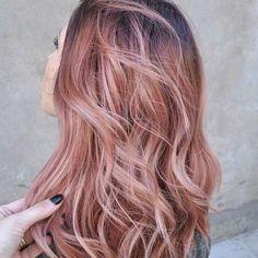 Rose gold hair #rosegoldhair #rosewood
