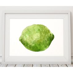 Lime print Fruit decor Kitchen poster Food print ACW453 ($15) ❤ liked on Polyvore featuring home, home decor, wall art, fruit home decor, fruit poster, lime green home decor, fruit wall art and lime green wall art