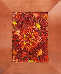 Melon Burst, Framed Smalti Glass Tile Mosaic Wall or Table Art Mosaic Wall, Mosaic Tiles, Kitchen Wall Art, Wooden Frames, Display, Glass, Diy, Painting, Home Decor
