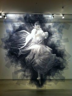 Wire mesh portraits - Seung Mo Park