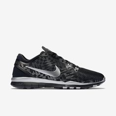 innovative design 1c774 83ef0 Nike Free TR Fit 5 Metallic Women s Training Shoe, Black Flat  Silver Metallic Silver