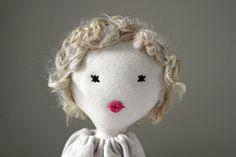 Cloth doll, Rag doll, handmade, retro, one of a kind/ Noemie