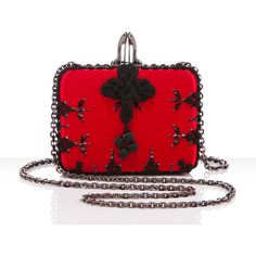 Christian Louboutin Sofia Clutch (164.625 RUB) ❤ liked on Polyvore featuring bags, handbags, clutches, purses, accessories, hand bags, christian louboutin, red clutches, christian louboutin handbags and christian louboutin purse