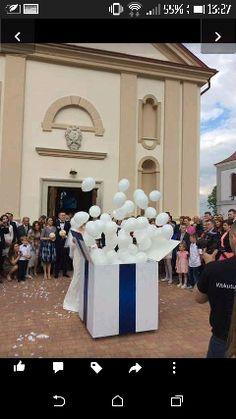 Zobacz zdjęcie pudło z balkonami wypelnionymi z helem. uwazam że świetna niespodzianka :) #wedding #prezent #ślub #balony #niespodzianka w pełnej rozdzielczości
