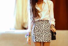 Print Skirt! simple top!