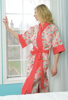 Kimono Robe Pattern Download from ConnectingThreads.com Quilting by Susan Terpin