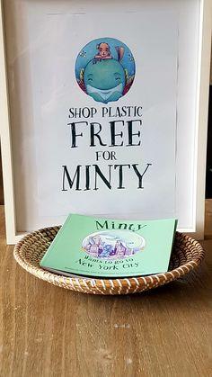 Snow Globe Books,  Minty Wants To Go To New York City by Claudia Gibb and Camila Abondano.  Shop Plastic Free For Minty