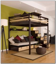 Tommy likes this when we talked about it ages ago.  Room is not big enough for full size beds unless they are right next to each other on one wall.  Maybe with a separator?  If purchased from Ikea we'd have to cut it down, it's too tall for our ceilings.