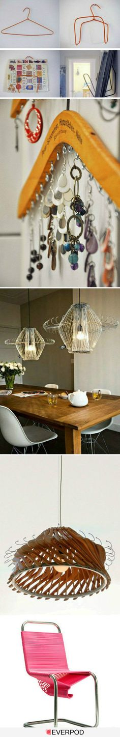 DIY: Interesting Easy Craft Ideas. That lamp above the table is really nice!