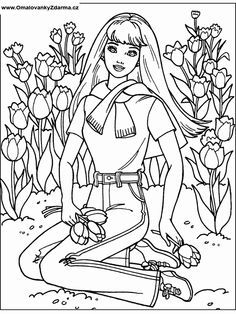 Pin By Griselda Morales On Barbie Coloring Pinterest Barbie Coloring