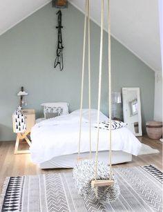 Most Inspirational Teen Girl Bedroom You Need To Know – Home Dekor Bedroom Loft, Home Bedroom, Girls Bedroom, Bedroom Decor, Bedroom Ideas, Bedroom Retreat, Bedroom Furniture, Swing In Bedroom, Serene Bedroom