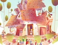 Neighbour party by Océane Meklemberg , via Behance