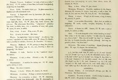 'CELTIC WORDS IN CORNISH DIALECT - Glossary of Celtic Words in Cornish Dialect' by Robert Morton Nance: the last page of the Glossary.     ✫ღ⊰n