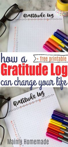 A Gratitude Log is daily list of things that you are thankful for. Keep track of your Gratitude Log in a bullet journal or notebook. Plus get a free daily gratitude log to print for your own journal. Bullet Journal For Beginners, Bullet Journal How To Start A, Printable Planner, Planner Stickers, Free Printables, Bujo, Gratitude Journal Prompts, Practice Gratitude, Bullet Journal Inspiration