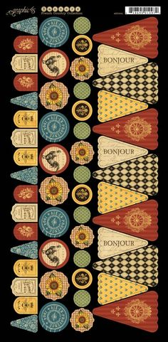 Introducing the NEW coordinating cardstock Banners from French Country! Look for them in stores in February. #graphic45 #CHAW2013 #sneakpeeks