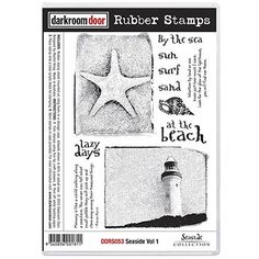 Darkroom Door Rubber Stamp Set - Seaside Vol 1