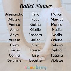 Baby names inspired by Ballet names unique boy names unique creative names unique girl names unique southern names unique uncommon names unique vintage Unisex Baby Names, Cute Baby Names, Pretty Names, Baby Girl Names, Boy Names, Girls Names Vintage, Fantasy Names, Name Inspiration, Writing Inspiration