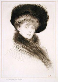 Paul César Helleu (1859 – 1927) Portrait of a Woman
