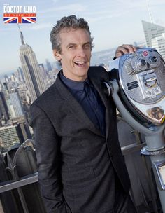 Peter Capaldi Top of the Rock in New York City