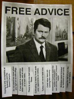 Ron Swanson's advice