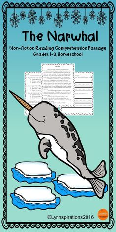 This Narwhal reading comprehension passage for grades 1-3 can be used in your class to help your students with reading comprehension skills as well as with test taking skills.   Please take a preview peek!   Included: An engaging passage with 4 multiple choice questions and 2 written responses.