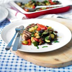 Grilled lamb with roasted caponata recipe. Get your five-a-day in a ...