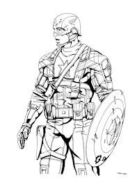 Captain America Shield Coloring Page Free Pages Of American Avengers Sketch Template