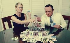 Robin Wright and Kevin Spacey as Claire and Francis Underwood. House of Cards (Netflix)