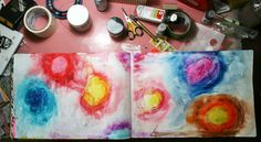watercolour crayons for background . . . from balzerdesign