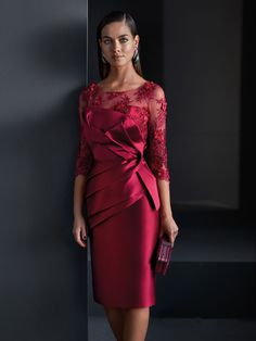 Mother Of The Bride Dresses Long, Mother Of Bride Outfits, Evening Dresses With Sleeves, Mermaid Evening Dresses, Godmother Dress, Cocktail Dress Prom, Maxi Robes, Dress Silhouette, Groom Dress