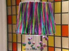 Manualidades y Artesanías | Lámpara con lana | Utilisima.com