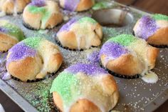 Mardi Gras King Cake Cupcakes | Crave. Indulge. Satisfy.