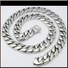 """POLISHED HEAVY Stainless Steel CURB CHAIN Necklace 24"""" 230g 15mm (SPECIAL CLASP) - http://jewelry.goshoppins.com/mens-jewelry/polished-heavy-stainless-steel-curb-chain-necklace-24-230g-15mm-special-clasp/"""