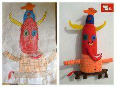 La abuela que convierte los dibujos de niños en peluches.